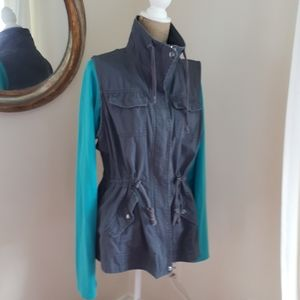 Charcoal Color, Denim Look Vest